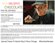 Rick Nielsen's Chocolate Pizza Recipe
